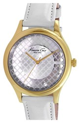 Women's Kenneth Cole New York Skeleton Dial Watch 38Mm White Gold