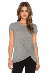 Stateside Twist Front Tee Gray
