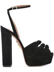 Aquazzura Platform Sandals Black