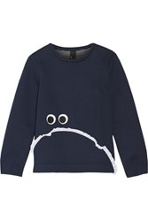 Mother Of Pearl Edith Bonded Jersey Sweatshirt Storm Blue