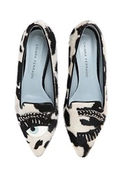 Chiara Ferragni 20Mm Flirting Eyes Pony Skin Loafers