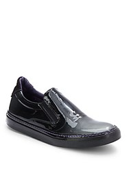 Robert Graham Rolo Leather Slip On Shoes Black