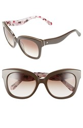Women's Kate Spade New York 'Amberly' 54Mm Cat Eye Sunglasses Brown Nude