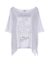 Cycle Topwear T Shirts Women White