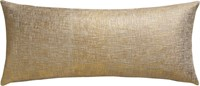 Cb2 Glitterati Gold 36''X16'' Pillow With Feather Down Insert