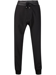 Unconditional Contrasting Waistband Track Pants Black