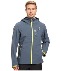 Spyder Eiger Shell Jacket Union Blue Sulfur Men's Coat