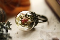 Real Rose Ring Pink Rosebud Romantic Gift By Rubyrobinboutique
