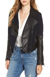 Blank Nyc Women's Blanknyc Faux Leather And Canvas Moto Jacket