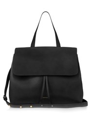 Mansur Gavriel Pink Lined Lady Top Handle Leather Bag Black