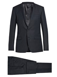 Dolce And Gabbana Gold Fit Wool Suit Navy