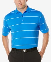 Callaway Men's Striped Performance Golf Polo Magnetic Blue