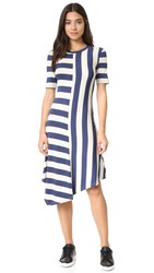 The Fifth Label Discovery Dress Stone Petrol Blue Stripe