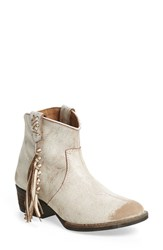 Very Volatile Women's 'Lookout' Fringe Bootie Off White Leather