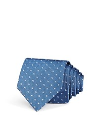 Bloomingdale's The Men's Store At Double Dash Neat Skinny Tie Slate Blue