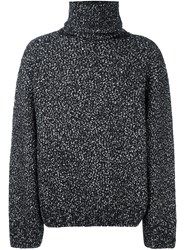 Juun.J Grain Roll Neck Jumper Black
