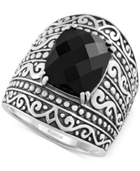 Effy Collection Effy Onyx Statement Ring 4 Ct. T.W. In Sterling Silver