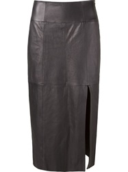 Giuliana Romanno High Waisted Skirt Grey