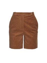 Carven High Waisted Corduroy Shorts