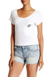 Desert Dreamer Peace Pocket Baby Tee White