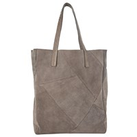 Pieces Bianca Suede Shopper Bag Grey