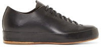 Feit Black Leather Low Top Sneakers