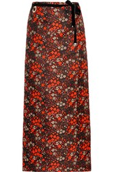 Maison Martin Margiela Jacquard Wrap Skirt Bright Orange