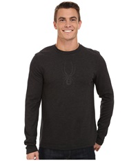 Spyder Pump Therma Stretch T Neck Top Black Men's Long Sleeve Pullover