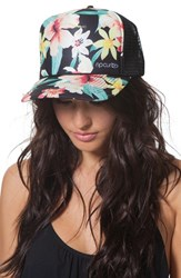 Junior Women's Rip Curl 'Tropic Wind' Floral Print Trucker Hat