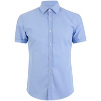 Hugo Men's C Jennino Short Sleeve Shirt Sky
