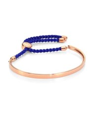 Monica Vinader Fiji Friendship Bracelet Royal Blue Rose Gold Royal Blue