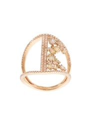 Kristin Hanson Diamond Bar Ring Pink And Purple