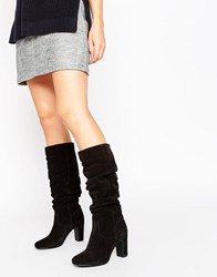Oasis Slouch Boot Black