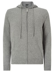 John Lewis Made In Italy Premium Cashmere Hoodie Grey