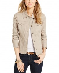 Charter Club Denim Jacket Only At Macy's Almond Latte