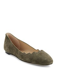 Saks Fifth Avenue Leather Ballet Flats Hunter