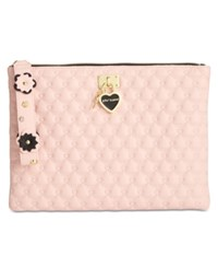 Betsey Johnson Quilted Pouch Blush