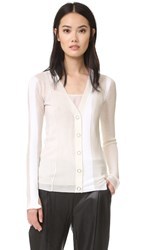 Alexander Wang Engineered Stripe Cardigan Ivory