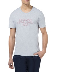 New Man Tan Grey Short Sleeved Jersey Mix T Shirt