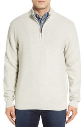 Cutter And Buck Men's Big Tall 'Benson' Quarter Zip Textured Knit Sweater Limestone Heather