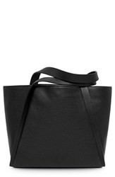 Akris 'Medium Alex' Calfskin Leather Shopper