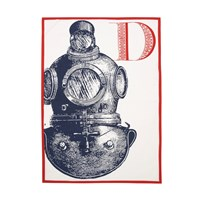 Thomas Paul Thomaspaul D Diver Tea Towel