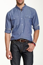 Burnside Button Down Collar Woven Shirt Blue