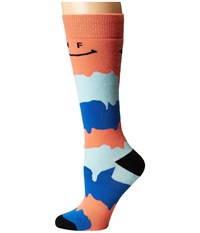 Neff Happy Snow Socks Peach Women's Thigh High Socks Shoes Orange