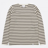 Norse Projects Godtfred Classic Compact T Shirt Ecru Navy