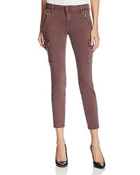Mavi Jeans Juliette Cargo Pants In Dark Wine Twill