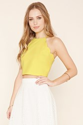 Forever 21 Scalloped Crop Top