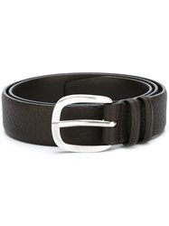 Orciani Hammered Cut Belt Brown