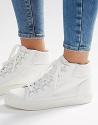 Asos Down Load High Top Trainers White