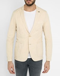 Scotch And Soda Beige Unlined Washed Cotton Jacket